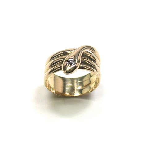 antique snake ring with
