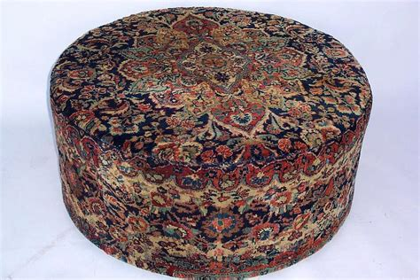 persian ottoman large round persian carpeted ottoman for sale antiques