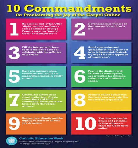 The Ten Commandments Printable Poster