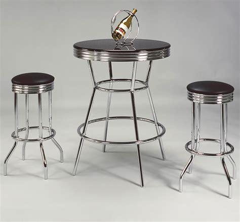 Crown Royal Bar Stools by Crown Retro 3 Bar Table And Swivel Stools Set