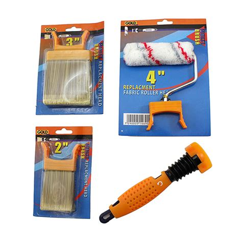 multi brush set with mini roller dandy tools
