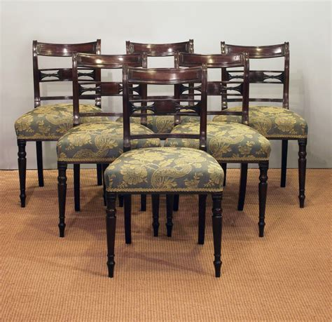 Dining Chair Sets Of 6 Set Of Six Antique Dining Chairs Six Georgian Dining Chairs Six Regency Dining Chairs Set Of