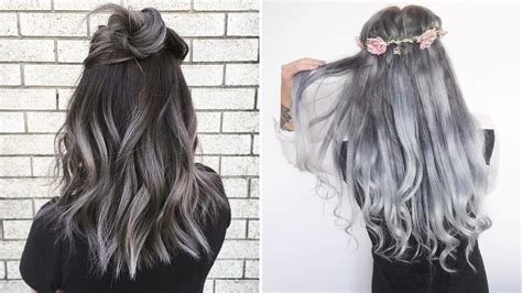 light grey hair dye the gray hair trend 32 instagram worthy gray ombr 233