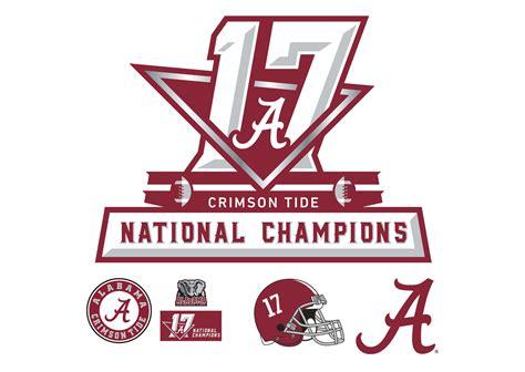 alabama crimson tide logo home decor football sports wall alabama crimson tide 2017 football national chions logo