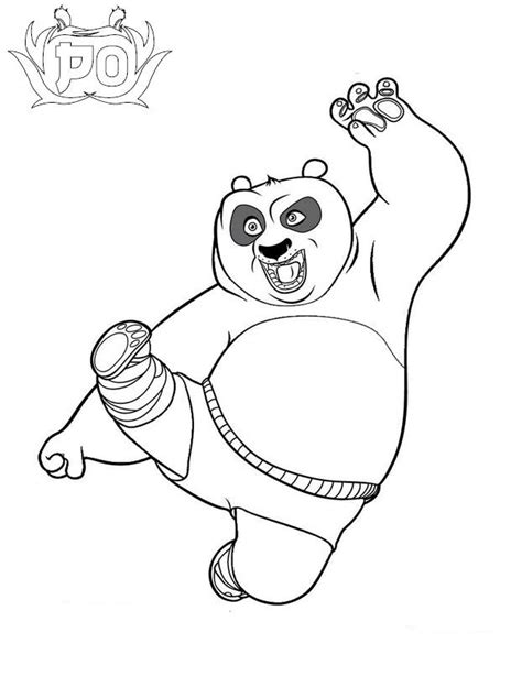 kung fu panda 1 coloring pages