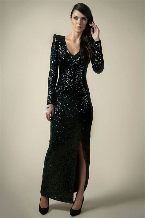 Dress Sequen sequin maxi dress dressed up