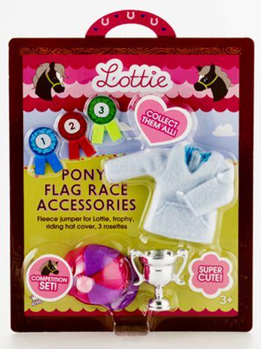 kidstuff lottie doll lottie flag race accessory set creative kidstuff