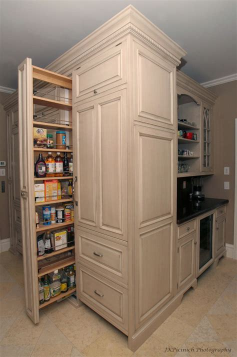 pantry pull out vs door with attached storage