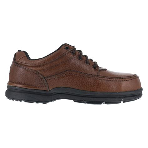 steel toe oxford work shoes rockport rk6762 world tour mens brown sd dr steel toe