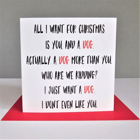funny christmas card christmas card all i want for funny dog christmas card by the new witty