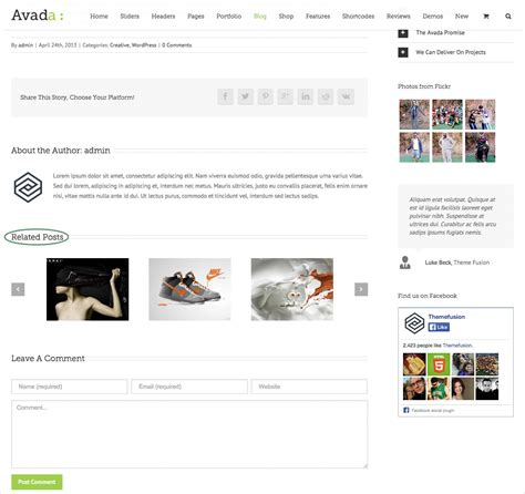 avada theme related posts typography theme fusion