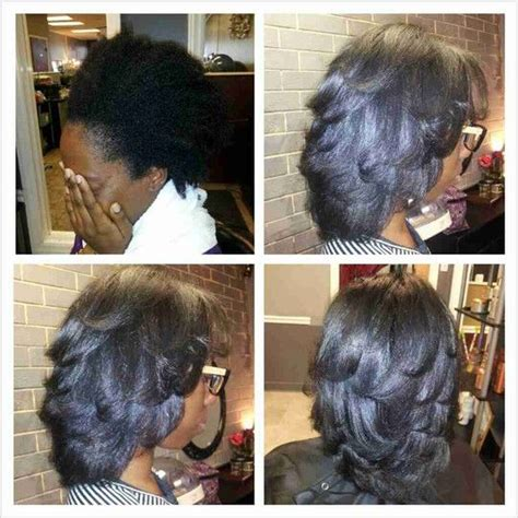 short pressed styjes natural hair silk and natural on pinterest