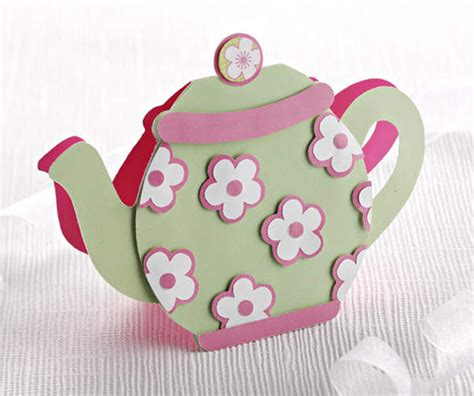 Teapot Card Template by Make A Teapot Shaped Card Papercraft Inspirations