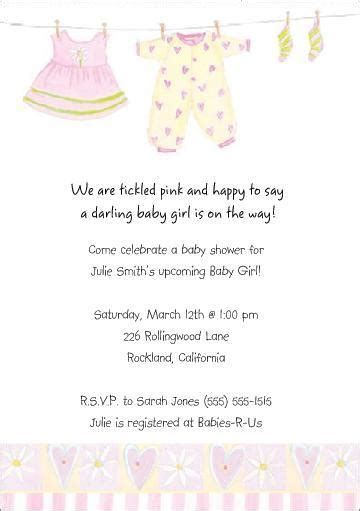 Baby Shower Invitation Wording Exles by Baby Shower Invitations Baby Shower Invitation Wording