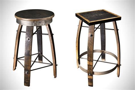 Handcrafted Bar Stools - whiskey wood bar stools by heritage handcrafted