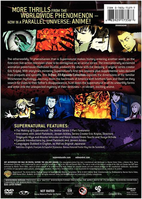 Supernatural Season 1 Dvd Box Set Collection Koleksi supernatural the anime series complete collection dvd box