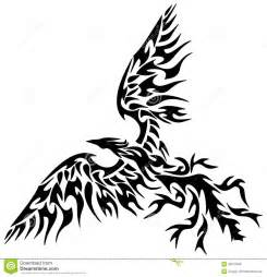 tribal phoenix de tatouage image libre de droits image