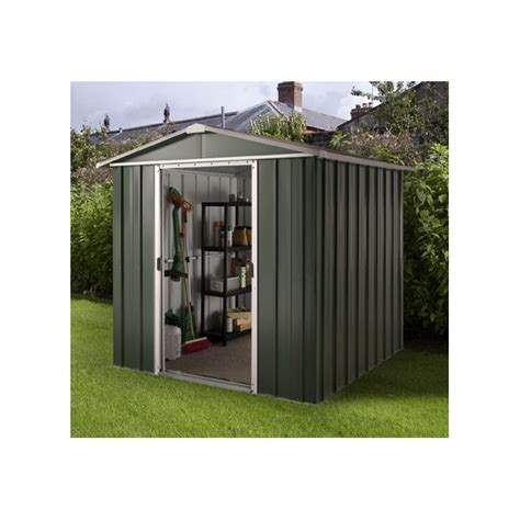 Argos Metal Shed by Buy Deluxe Apex Metal Shed With Support Frame 6 X 4ft At
