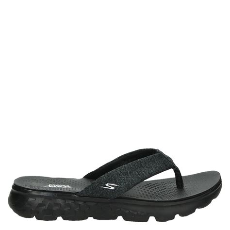 skechers house shoes skechers dames slippers zwart