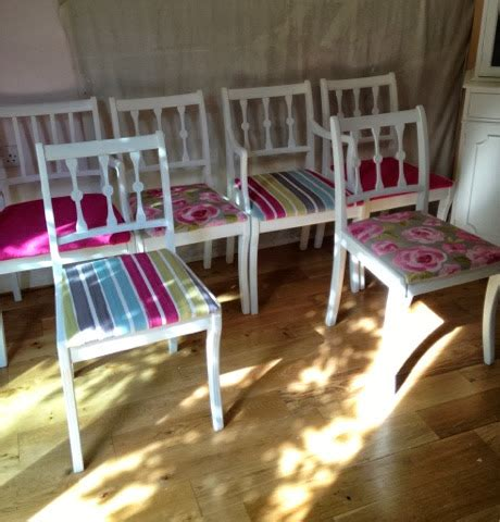 Upcycled Dining Room Chairs by Bowiebelle Vintage Upcycled Furniture Stylish Dining