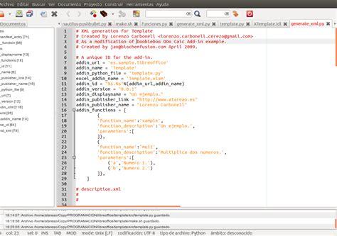 geany templates como crear tu propio complemento para libreoffice en ubuntu