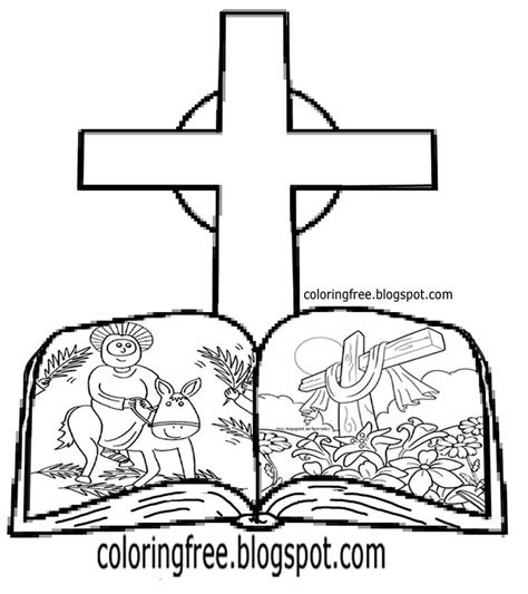 Jesus Easter Story Coloring Book