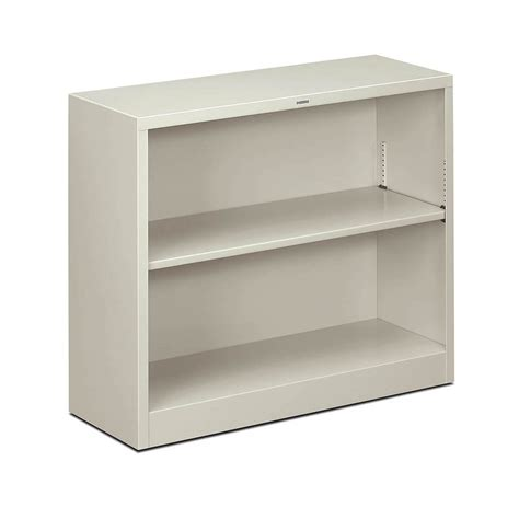 hon brigade steel 2 shelf bookcase