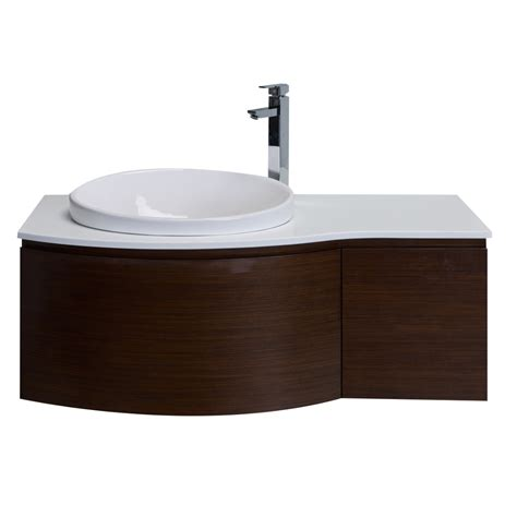 top mount vanity sinks eviva curvy 48 quot iron wood modern bathroom vanity wall