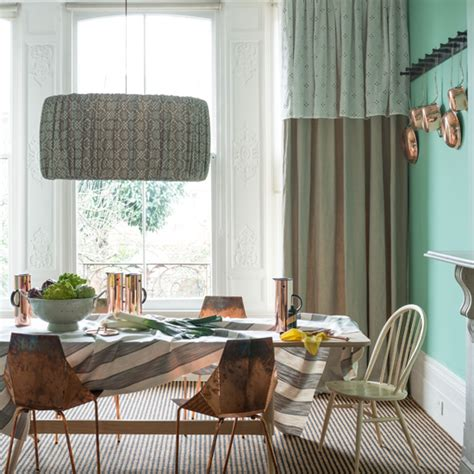 jade living room jade green dining room with copper chairs dining room decorating ideas ideal home