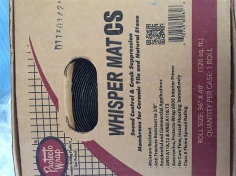 whispermat cs sound control underlayment diggerslist