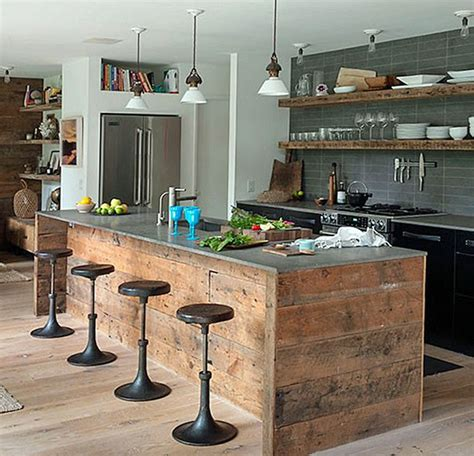 Rustic Kitchen Island Ideas Two Ways To Create Rustic Kitchen Island My Kitchen Interior Mykitcheninterior