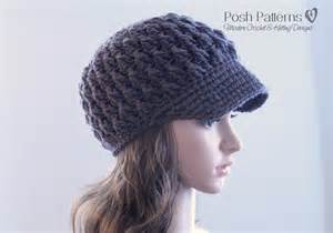 textured hat pattern crochet pattern newsboy hat visor hat pattern