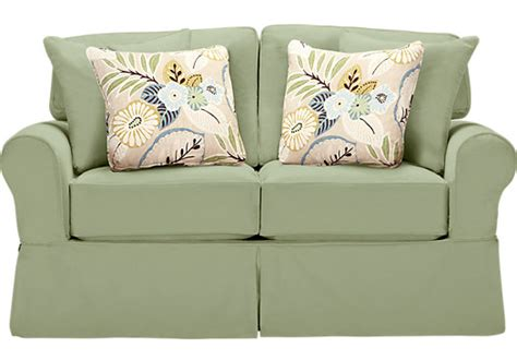 cindy crawford beachside sofa cindy crawford home beachside green loveseat loveseats