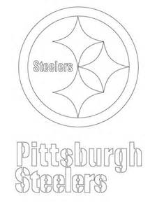 pittsburgh steelers logo coloring page free printable