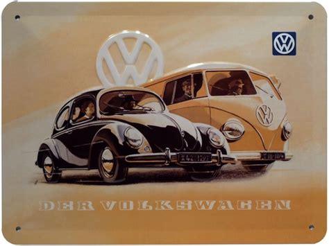 moderne wandtattoos 1960 vw bulli k 228 fer auto schild gepr 228 gt 20x15 cm retro