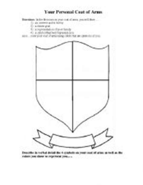 English Worksheets Personal Coat Of Arms Personal Coat Of Arms Template