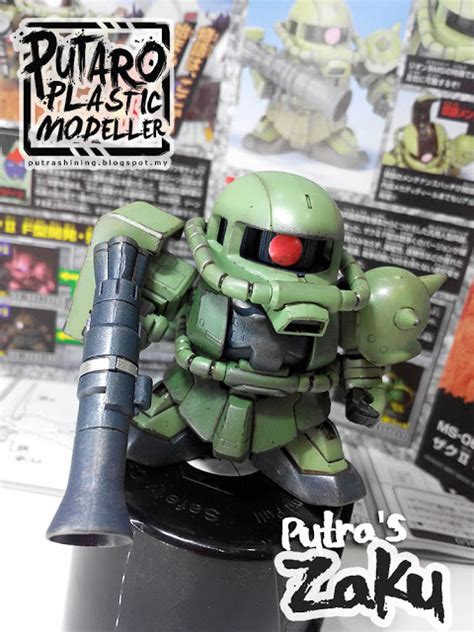 Sd Zaku Ii Bandai sd bb senshi ms 06f zaku ii custom weathering by putra