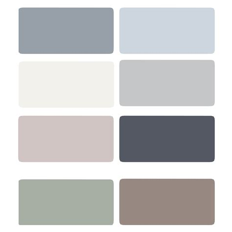 light blue gray color palette