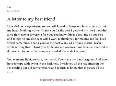 Cover Letter To A Friend by A Letter To My Best Friend How To Format Cover Letter