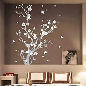 Large Wall Stickers Uk Large Blossom Flower Tree Butterfly Wall Arts Wall