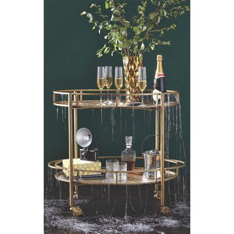 Home Depot Home Bar Home Decorators Collection Eliza Gold Bar Cart 7639900530