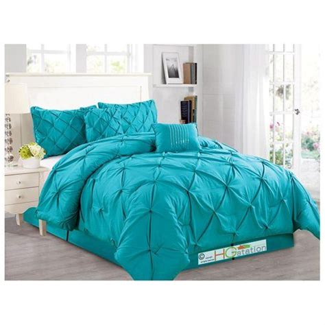 blue pintuck comforter 1000 ideas about teal comforter on pinterest comforters
