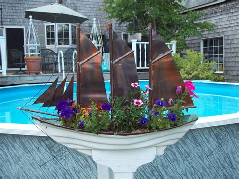 The Planter Ship by Turned A Fiberglass Boat Shaped Window Box Into A Sailing