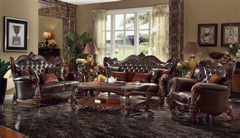 von furniture versailles large formal dining room set in von furniture versailles formal living room set in dark