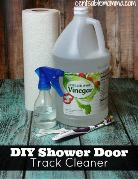 Shower Door Cleaner Vinegar How To Clean Your Shower Door Tracks Quot Cents Quot Able Momma