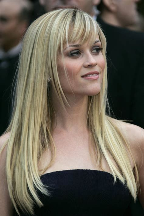 How To Cut Reese Witherspoon Bangs | how to style side swept bangs women hairstyles