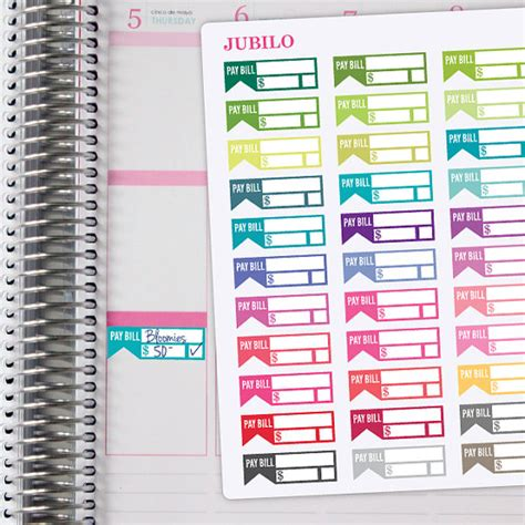 printable bill planner stickers planner stickers bill due stickers