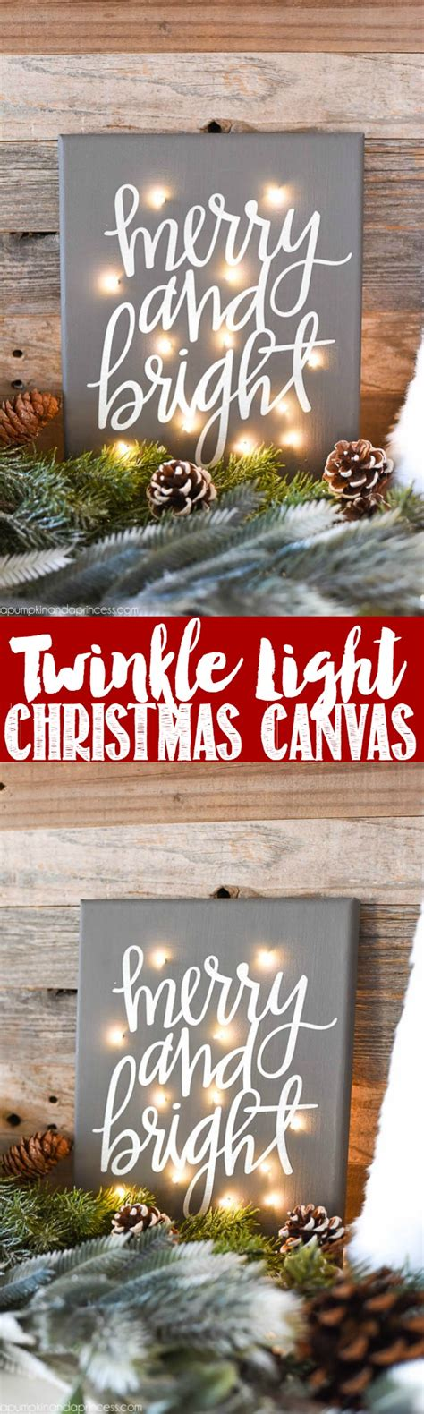 how to make christmas lights twinkle instead of blink diy twinkle light canvas a pumpkin and a princess