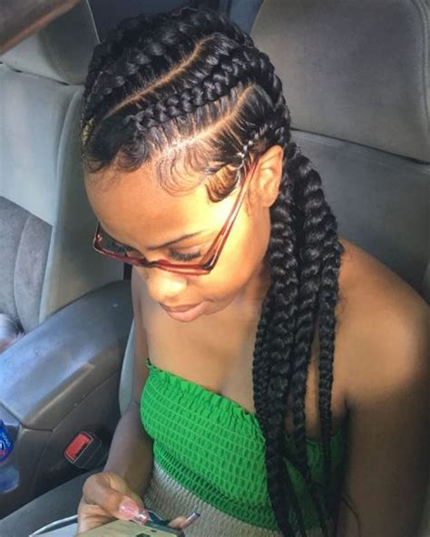 hair style using big braids 70 best black braided hairstyles that turn heads in 2017