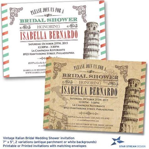 printable vintage bridal shower invitations vintage italian bridal wedding shower invitation